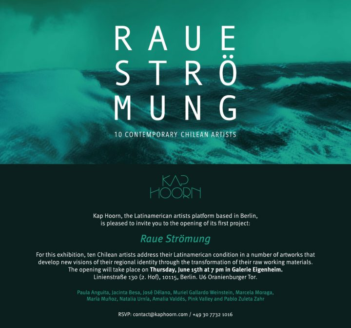 Raue Strömung exhibition invitation